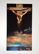 SALVADOR DALI HAND SIGNED * CHRIST OF SAINT JOHN OF THE CROSS*  COLORPLATE W/COA
