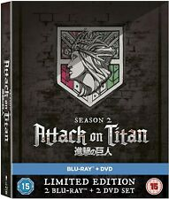 ATTACK ON TITAN SEASON 2 BLU RAY NEW SEALED LIMITED COLLECTORS EDITION