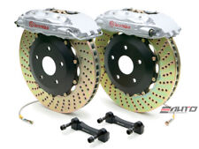 Brembo Front GT Brake 4p Silver 332x32 Slot for Lexus GS 93-04 LS 91-00 SC 91-07