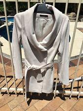 Ladies 3/4 Coat Jacket Privilege Size 8 Pale Beige Big feature Collar Corded