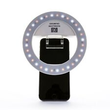 NanGuang Large LED Ring Light with Mirror, Case and Smartphone Clips