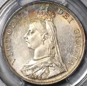 1887 PCGS MS 63 Victoria Double Florin 4 Shillings Great Britain Coin (21070402C