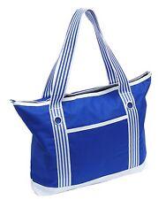 Freizeit Bade Sauna Tasche Strandtasche Shopper Badetasche blau weiss marine NEU