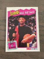 1991-92 Hoops Will Smith Rookie Card Fresh Prince Jammin' NBA Stay in School (D)