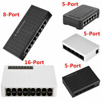5/8/16Ports Network Switch 10/100Mbps RJ45 Gigabit LAN POE Hub Ethernet Adapter