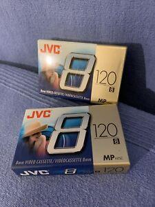 2 JVC 8mm MP 120 Video Cassette Tapes new in pkg