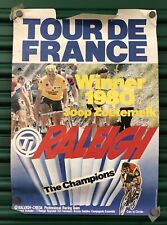 Vintage 1980 Cycling Bike Racing Poster Tour De France Joop Zoetemelk Raleigh