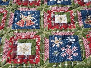 BETTER HOMES & GARDENS HOLIDAY QUILT Patchwork LOOK FULL SIZE 82 X 84