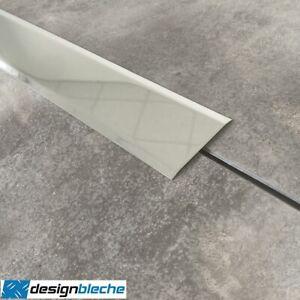 Edelstahl 2000mm Abdeckleiste Fugenabdeckung Abschußleiste 2 fach gekantet 0,8mm