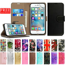 Case for iPhone 6 6s 7 8 Real Genuine Leather Flip Wallet Magnetic Phone Cover