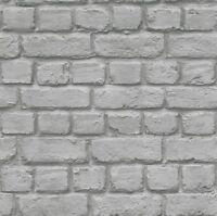 Rasch 226720 3D Stein Ziegel Wand Effekt Merkmal Tapete Grau