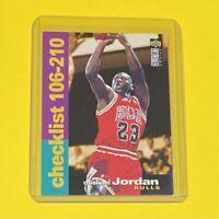 1995 Upper Deck Michael Jordan CHECKLIST Chicago Bulls #210 HOF 🔥