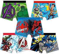 Boys Kids Childrens Boxer Shorts Underpants Trunks Pants Marvel Avengers 3-10