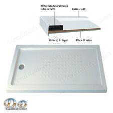 Piatto doccia in resina rinforzato antiscivolo quadro acrilico 80x160 h. 5,5 cm