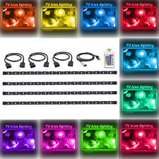 4pcs USB LED Strip Light RGB Multi Color Mood Light TV Backlight Remote Control