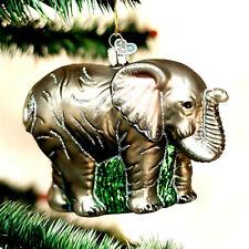 CHRISTMAS MAJESTIC ELEPHANT ORNAMENT BY (OLD WORLD CHRISTMAS) GLASS BEAUTIFUL