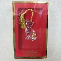 """Gorham Christmas Ornament Cat's Best Friend 6058861 Crystal Gold Mouse 2½"""" Box"""
