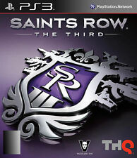SAINTS ROW THE THIRD (PS3) PLAYSTATION 3 GAME (MA 15+) WITH MANUAL