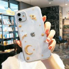 Cell Phone Case Moon Star Planet Shinning Clear Cover Mobile Bling Accessories