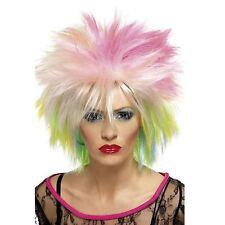 Punk Rock Sally 80s Attitude Wig Multicoloured Short Spiky Fancy Dress Accessory