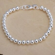 silver 925 jewelry elegant women FASHION 6MM beads bracelet Jewelry hot sale