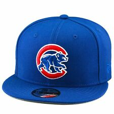 "New Era Chicago Cubs Snapback Hat Cap MLB All ROYAL/""C"" & Bear"