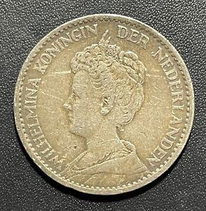 Netherlands 1911 Gulden Silver Coin: Wilhelmina I
