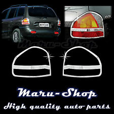 Chrome Rear Tail Light Lamp Cover Trim for 01~04 Hyundai Santa Fe