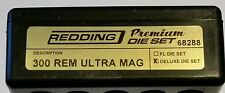 68288 REDDING 3-DIE PREMIUM DELUXE BOTTLE NECK SET - 300 REM ULTRA MAG RUM - NEW