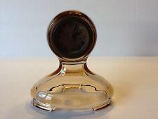 Elegant Depression Glass Fostoria Amber St. Alexis Clock
