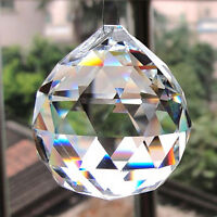 20mm Clear Crystal Lighting Ball Prisms Hanging Pendant Wedding Curtain Deco Oh