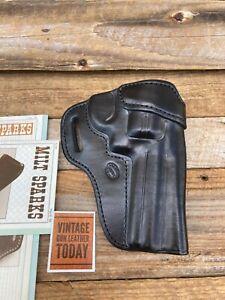 """Milt Sparks Black leather PMK OWB Holster for Colt Diamondback 4"""" 1 1/2"""" Belt"""