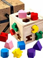 Jaques of London – 13 pcs Shape Sorter - Perfect Wooden Toys for 1 2 3 Year...