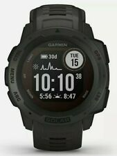 Garmin Instinct Solar GPS Smart Watch. Graphite Black. *NEW*