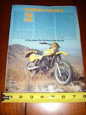 1981 SUZUKI PE175X - ORIGINAL ARTICLE PE-175