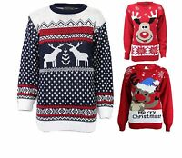 MENS LADIES XMAS CHRISTMAS JUMPER NOVELTY RUDOLPH PENGUIN RETRO SWEATER JUMPERS