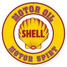 SHELL 71cm!!! Logo Blechschild Gasoline USA Benzin OIL Service Werkstatt Schild