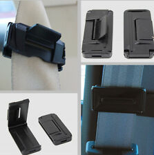 2x Seat Safety Belt Stopper Strap Clip Car Auto Universal Black Comfort Safety
