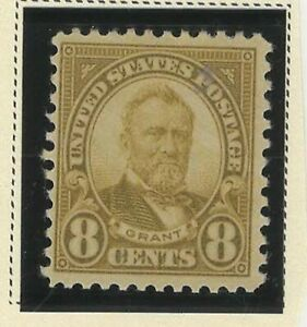 USA 1922-1925 MNH GRANT OLIVE GREEN 8c