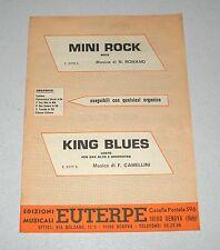 Spartiti MINI ROCK e KING BLUES Liscio orchestra Fisarmonica Romano Camellini