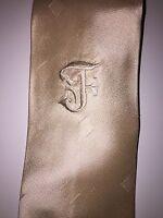 Gianfranco Ferre Light Shinny Beige Tie For Men Made In Italy 100% Silk