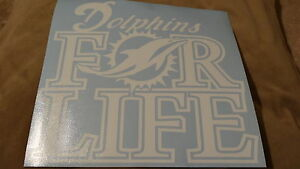 Miami Dolphins For Life car decal
