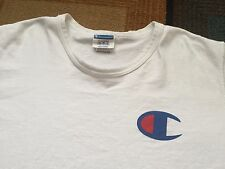 Vintage 90s Champion Big Logo T Shirt White Short Sleeve Sleeve Logo sz XL
