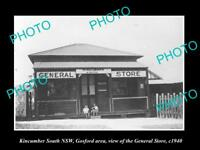 OLD LARGE HISTORIC PHOTO OF KINCUMBER SOUTH NSW, GOSFORD, GENERAL STORE c1940