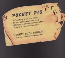 Pocket Pig Change Collector Security Trust Company Rochester NY 1950s