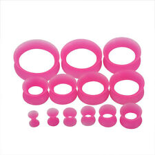 1 Pair Thin Flexible Silicone Ear Skin Tunnels Plugs Ear Gauges Ear Skin Rings