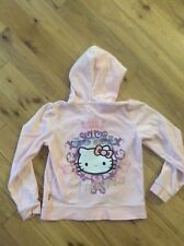 Rose velours Hello Kitty Sweat à capuche by Victoria Casal Couture 10 ans