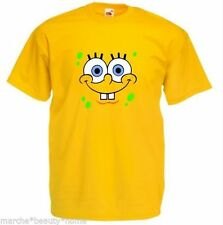 MEN's XL SPONGEBOB LOOSE FIT T-SHIRT SPONGEBOB SQUARE PANTS YELLOW TOP FUN XL