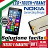 DISPLAY LCD+TOUCH SCREEN+FRAME TELAIO NOKIA LUMIA 640 XL RM-1066 RM-1062 VETRO!!