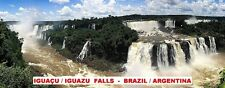 PANORAMA FRIDGE MAGNET of IGUACU IGUAZU FALLS BRAZIL ARGENTINA